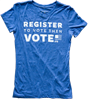 Photo of Register to Vote T-shirt.